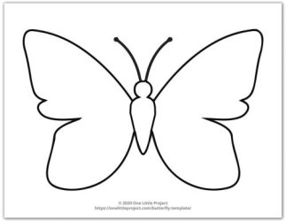 Butterfly Template Free Printable Butterfly Outlines One Little Project