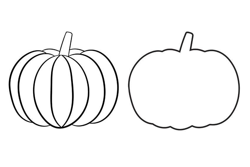 Pumpkin Template Free Printable Pumpkin Outlines One Little Project