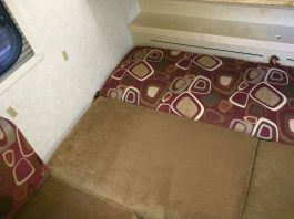 Rear couch laid flat