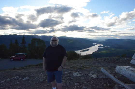 Me in front of the north view (downstream Yukon)