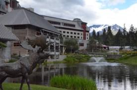 The metal moose.