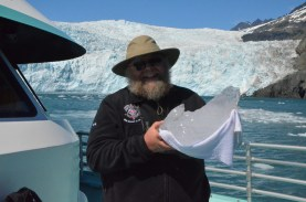 Holding an iceberg
