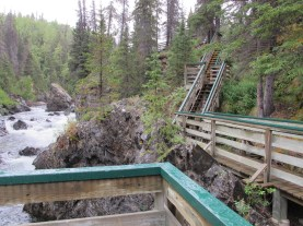 Looking upstream from the main fall.