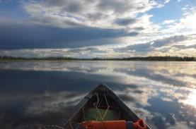 Big sky and canoe