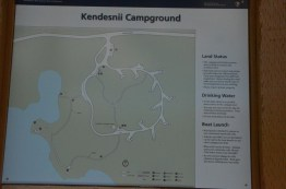 Map of the campground
