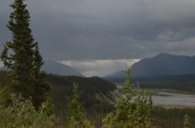 Kluane River, just above the lake.