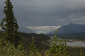 Kluane River, just above the lake.