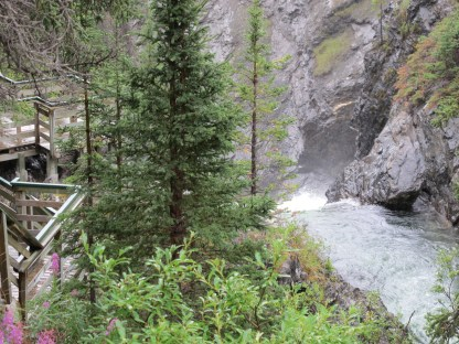 Top of main fall from upstream