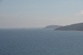 View from the nearby headland to the south