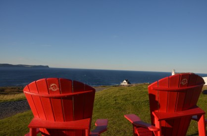 """Parks Canada's """"Red Chairs"""" are really sturdy recycled plastic. Placed strategically for great views in lots of parks, worth taking a break."""