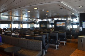 Behind the TV wall is one of the reserved seating lounges