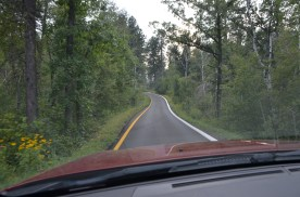 """Southbound """"lanes"""" of this divided highway."""