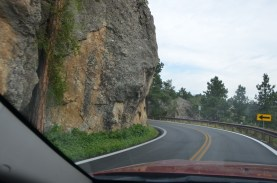 Road was clearly blasted out of the side of the mountain
