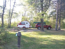 Campground near Mantrap Lake