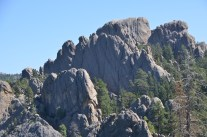 Lots of this kind of rock structure as you head north.