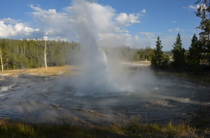 A somewhat rare eruption of Spa Geyser