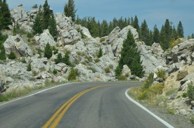 Jumbled rocks along the approach to Mammoth.