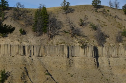 Basalt columns across the canyon near Tower Fall.