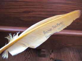 Souvenir feather from the tour.