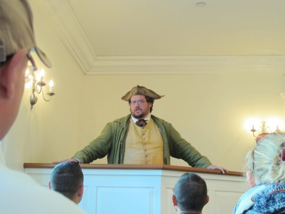 Actor portraying Samuel Adams, the museum's immersive approach to history was quite effective and fun.