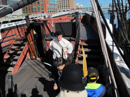 Aboard the Beaver, one of two ships at the museum.