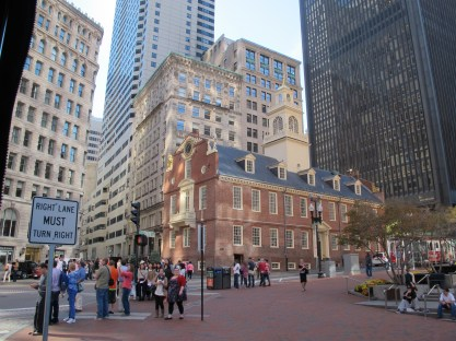 Faneuil Hall, start of the freedom trail walk.