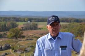 Our tour guide at Little Round Top.