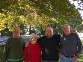 My cousin, aunt, me, uncle