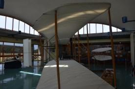 Wright Flyer replica in the Visitor Center.