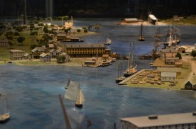One of the exhibits is a very extensive historical scale model of the area