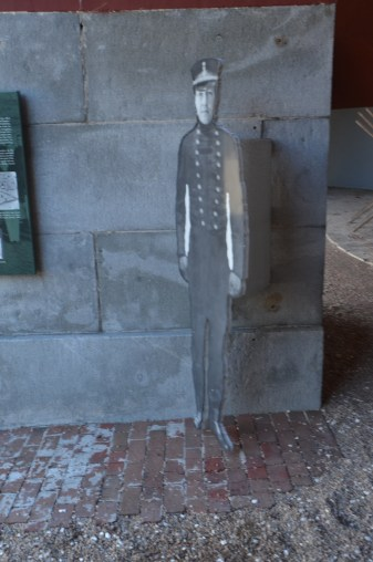 Cutouts like these had signs nearby with descriptions of typical activities in the fort.