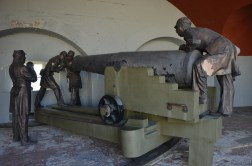 Several sculptures like this helped to bring the otherwise empty fort to life.