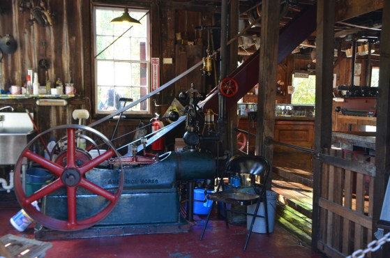 Steam powered cider press works
