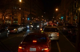 DC traffic on the night tour got pretty bad. Something had one of the main streets closed. Apparently not all that uncommon.