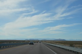 Back out on the wide open road in Nevada, I think we're heading for those mountains.
