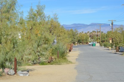 The road in front of my trailer spot. Had the feel of a residential mobile home park.