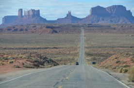 Monument Valley - if you could see to each side there are people milling about everywhere.