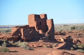 The bit of the Wupatki Pueblo visible from the parking lot.