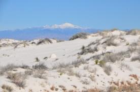 That's Sierra Blanca peak again, from the end of the walkway.