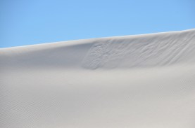 The leading edge of a dune crests like a wave.