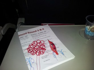 Tatting on the plane