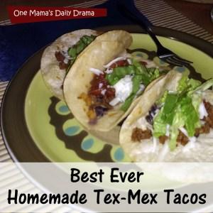 Tex-Mex taco recipe