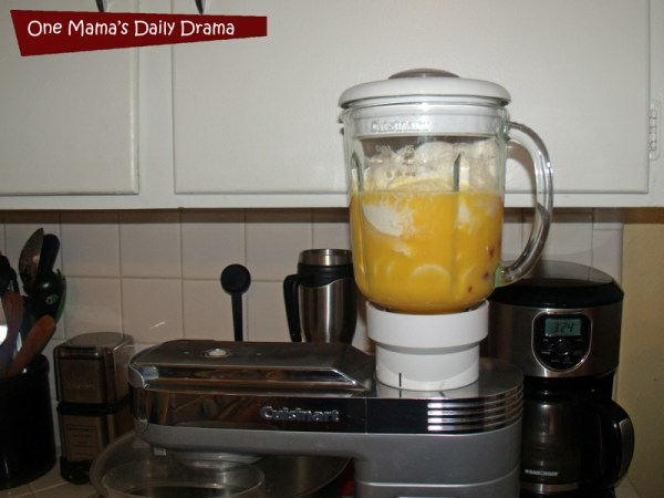 Orange sunrise smoothie recipe with just 4 ingredients | One Mama's Daily Drama