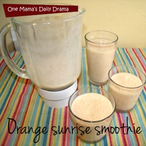 Orange sunrise smoothie recipe with just 4 ingredients | One Mama's Daily Drama