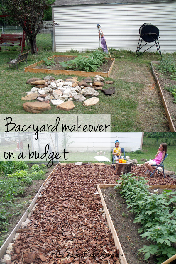 Backyard makeover on a budget: How to build a mulch patio | One Mama's Daily Drama