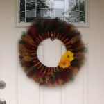 Surprisingly easy DiY fall tulle wreath