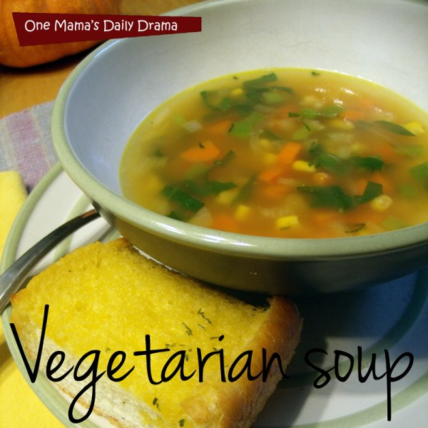 Vegetarian vegetable soup recipe   One Mama's Daily Drama