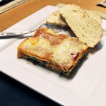 Vegetarian spinach lasagna recipe from One Mama's Daily Drama