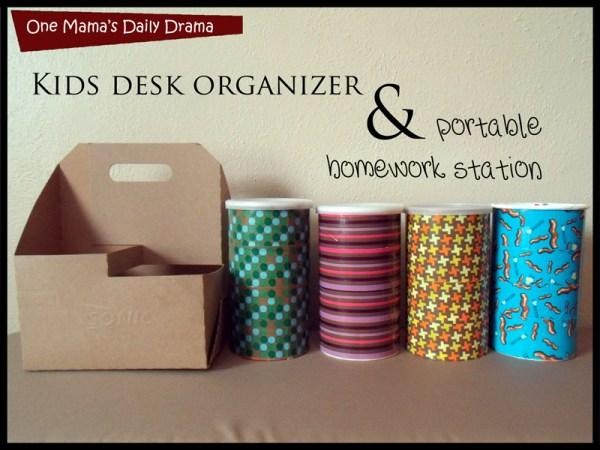 kids desk organizer diy