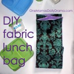 Fabric lunch bag DIY